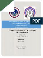 Tumores Benignos y Malignos de La Faringe