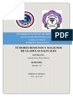 Tumores Benignos y Malignos de Glandulas Salivales
