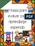 Frases Reportes de Evaluación Para Preescolar