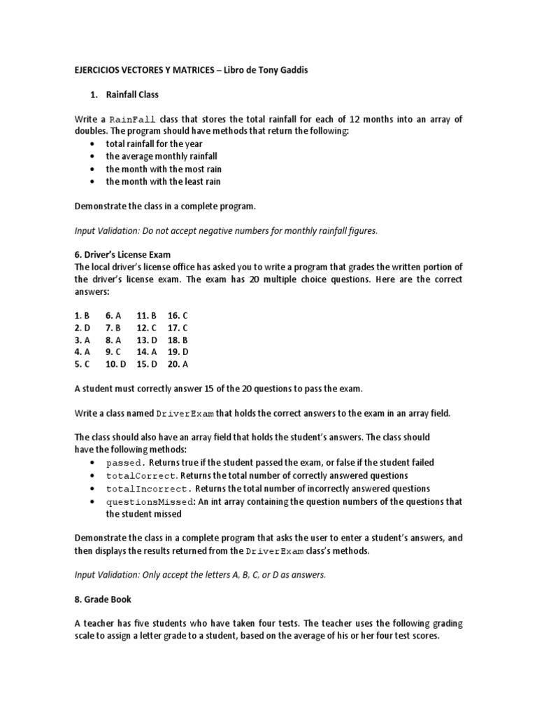 Ejercicios Vectores y Matrices Java | Array Data Structure