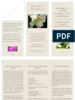 Brochure for Therapists - Healing Intimacy