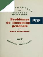 Problèmes de Linguistíque Générale