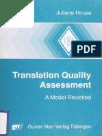 Translation Quality Assessment a Model Revisited