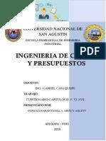 Ingenieria de Costos y Presupuestos - Cuestionarios