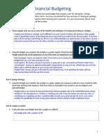 unit 3-module 1 assessment - budgeting