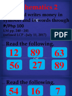 1st Quarter-Lesson 59- Reading and Writing Money