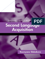 Second Language Acquisition 506