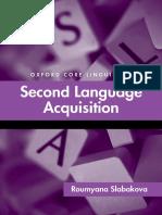 Second Language Acquisition 506