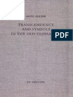 - (Beihefte Zur Zeitschrift Für Die Alttestamentliche Wissenschaft 275) Seizo Sekine - Transcendency and Symbols in the Old Testament_ a Genealogy of the Hermeneutical Experiences-Walter de Gruyter (199