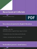 Neoclassical Criticism
