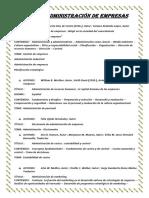 Libros de Administración de Empresas