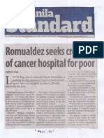 Manila Standard, June 10, 2019, Romualdez seeks creation of cancer hospita for poor.pdf