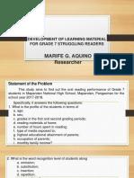 MARIFE AQUINO PPTfor Proposal Defense