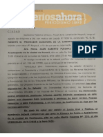 Documento. Juicio a monja Luisa Toledo.