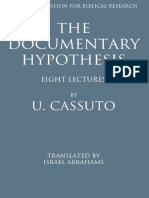 (Sidrat sefarim le-ḥeḳer ha-Miḳra mi-yisudo shel S. Sh. Peri) Cassuto, Umberto - The documentary hypothesis and the composition of the Pentateuch eight lectures-Magnes Press, Hebrew University (196