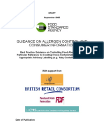 Allergen Control Guidance