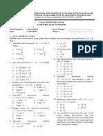 Soal Matematika SMA NU Kelas X