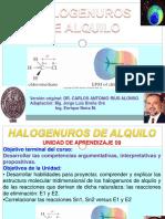 Halogenacion SN1 y SN2