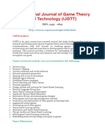 International Journal of Game Theory and Technology (IJGTT)