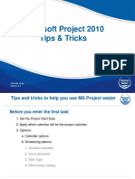 Microsoft Project Tips and Tricks