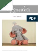 Elefantita patron amigurumi