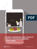 Proposal-Mobile Ordering and Loyalty Service for Restaurants, Cafes, Bars