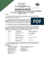 Narrative Report of 2nd Slacs