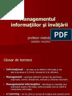 Modulul Management Invatare
