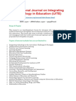 International Journal on Integrating Technology in Education (IJITE)
