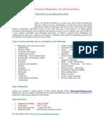 International Journal of Humanities, Art and Social Studies(IJHAS)