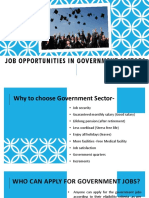 Job Opportunities in Govt Sectors