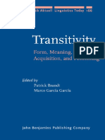 Transitivity - Form, Meaning, Acquisition, And Processing