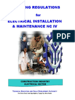 TR- Elec Inst and Maint NC IV