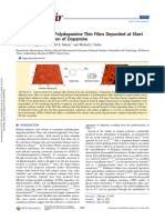 Characterization of Polydopamine Thin Films Deposited at Short Times by Autoxidation of Dopamine