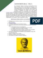 Biografia de Tales de Mileto