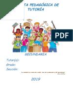 Carpeta de Tutoria . 2019