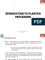 1. Introduction to Plastics Processing.