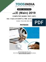 10 AP 2019 Cbt-1 Mains