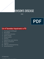 Physiotherapy Management of secondary impairments in patients with PARKINSON'S DISEASE
