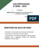 AULA 9 - Elementos Da Comunicação e Funções Da Linguagem