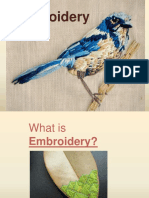 Hand Embroidery PowerPoint