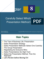 Chapter 8a - Carefully Select Which Sales Presentation Method to Use.pptx