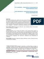Pinho 2019 Integração e Subversão - Produção de Conhecimento e Transformação Social(1)