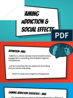 gaming addictions   social effects