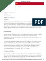 M&a Intern Analyst - Job Details