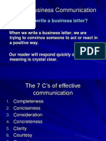Chapter 2, 7Cs of Business Communication A