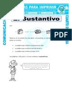 Ficha Ejercicios de Sustantivos Para Cuarto de Primaria