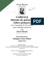 Oscar Rosati - Carulli, Método de Guitarra, Libro Primero - 22 Estudios Con Segundas Guitarras (1 a 5)