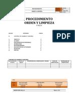Procedimiento Orden y Limpieza