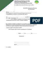 Anexo 11 Formato 08 Modelo de Solicitud Para Evaluar Informe